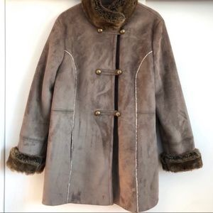 NWOT Tower by London Fog Winter Faux Suede Coat